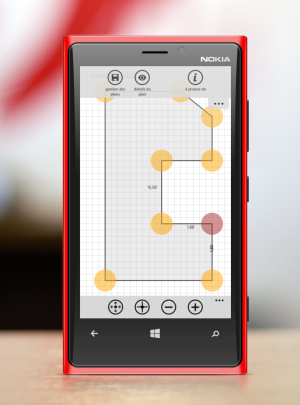 DrawPlan sur Windows Phone
