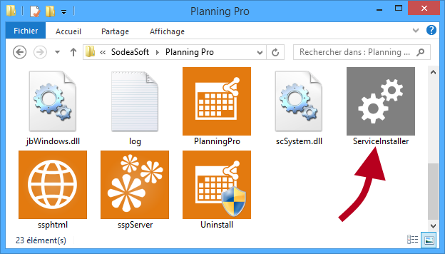 planning server en service windows