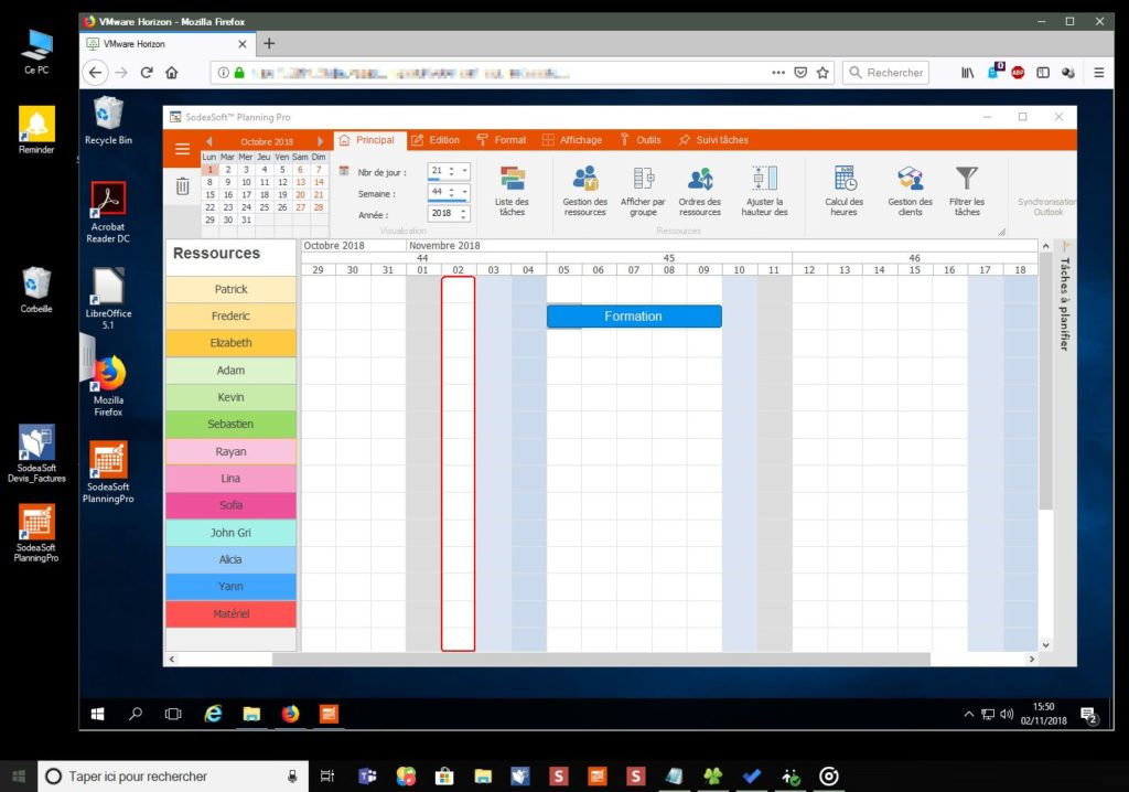 Planning Pro avec Cloud Desktop